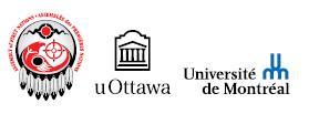 AFN, uOttawa and University of Montréal logos