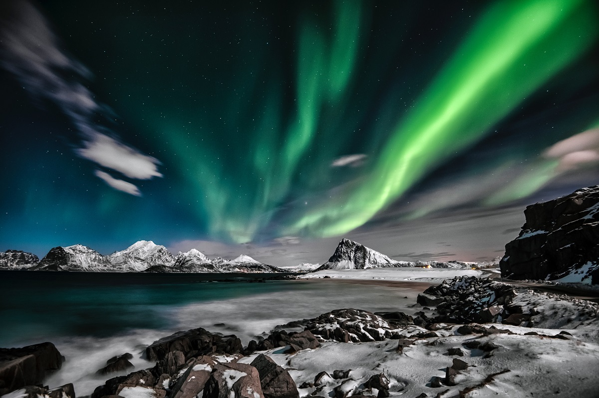 Aurora Borealis in the Arctic