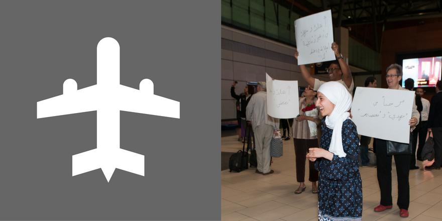 Assma Basalamah accueille sa famille à l'aéroport - Assma Basalamah welcomes her family at the airport