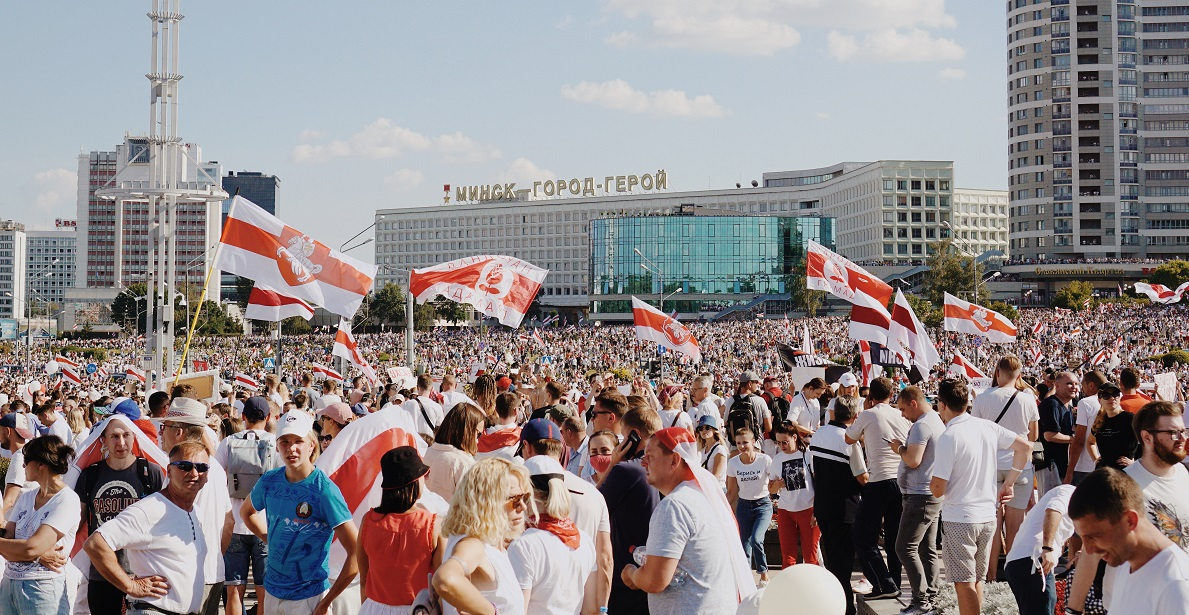 Protesters in Belarus