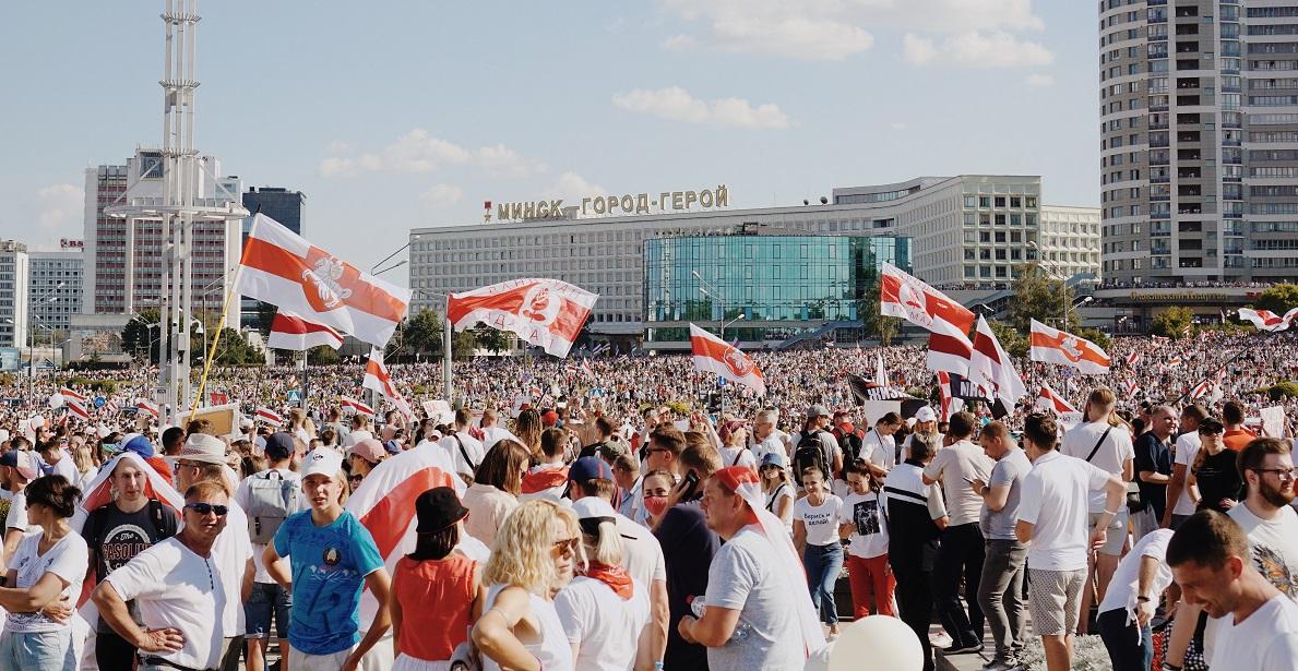 Des manifestants en Biélorussie