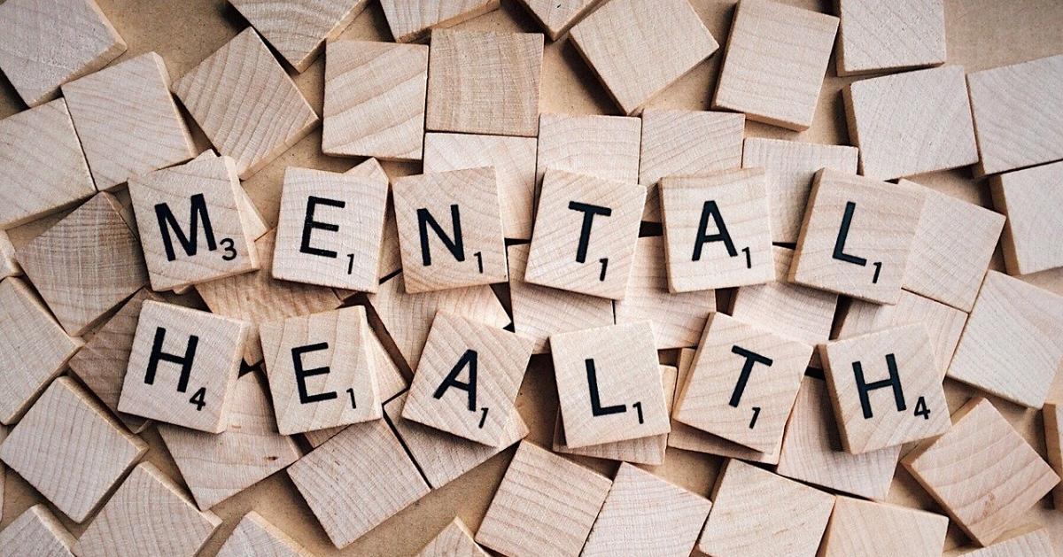 Mental health written in Scrabble letters