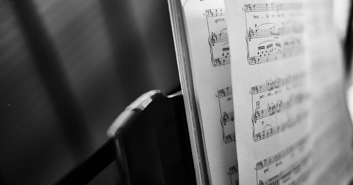 Un cahier de musique