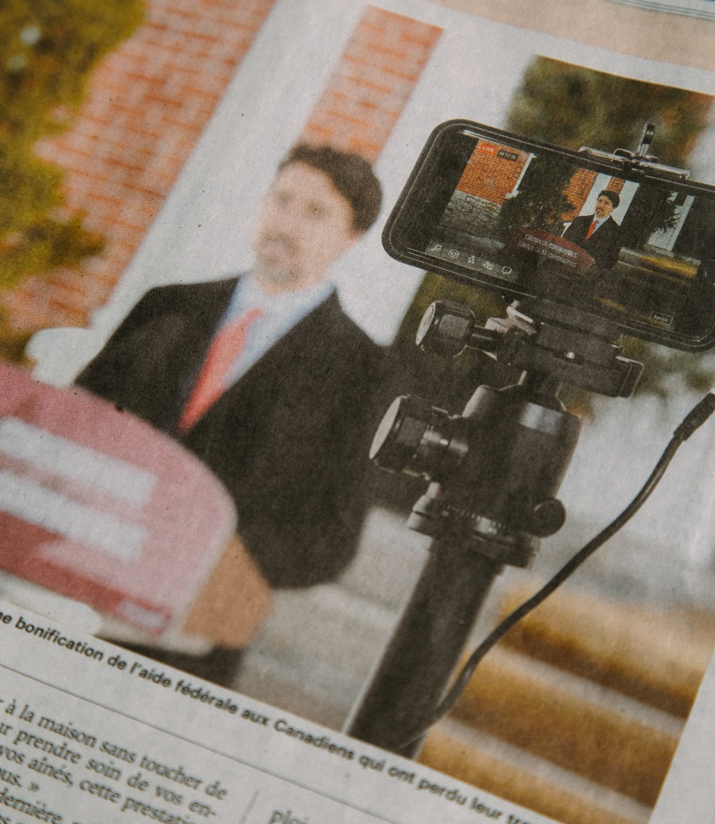 Image of Justin Trudeau in newspaper