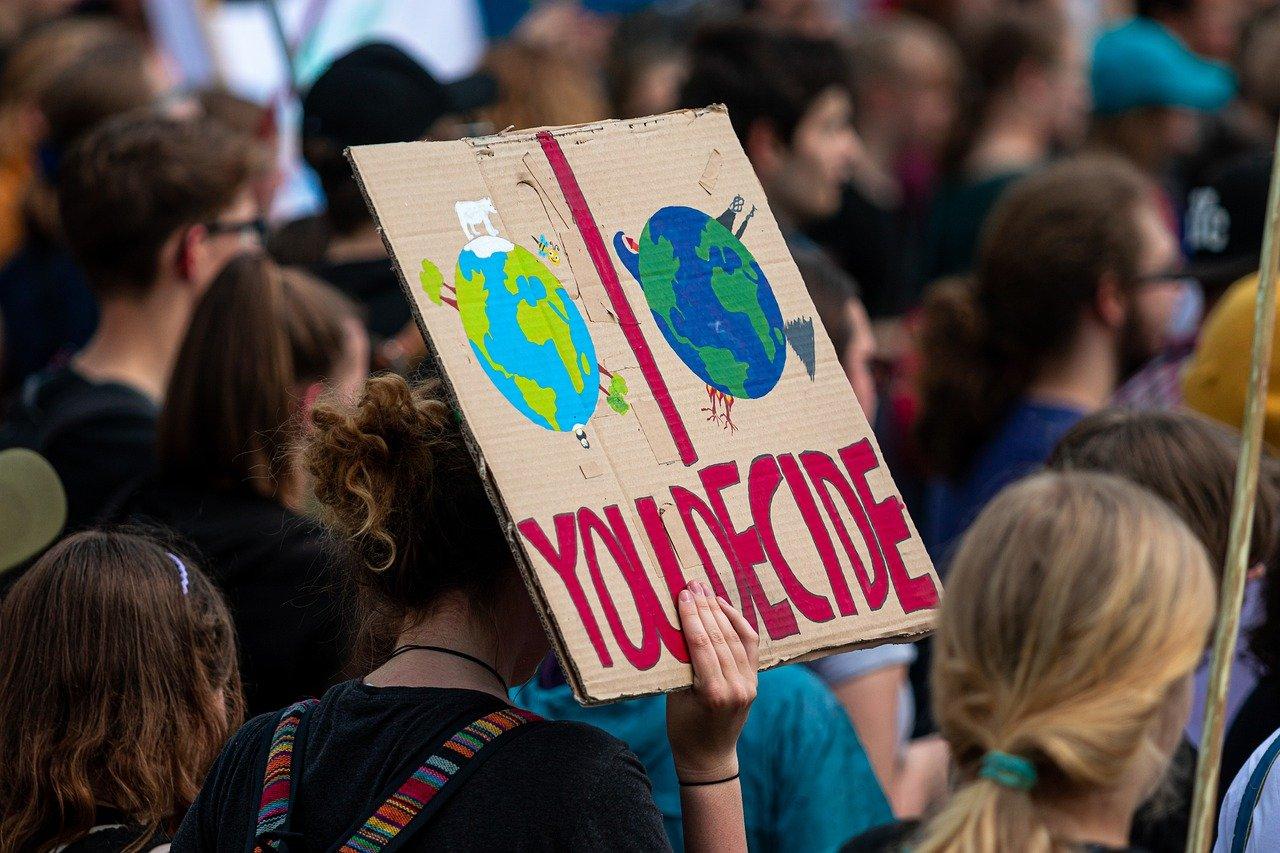Carte d'une marche pour le climat