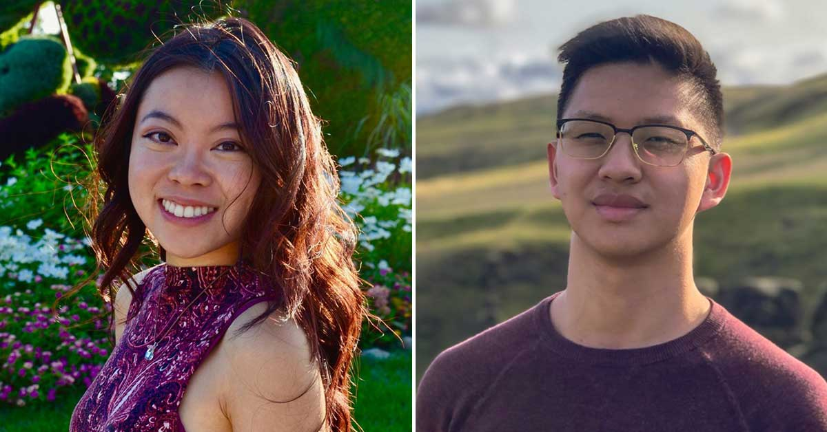 COVID Performers - Heidi Li, on the left, and David Zheng, on the right