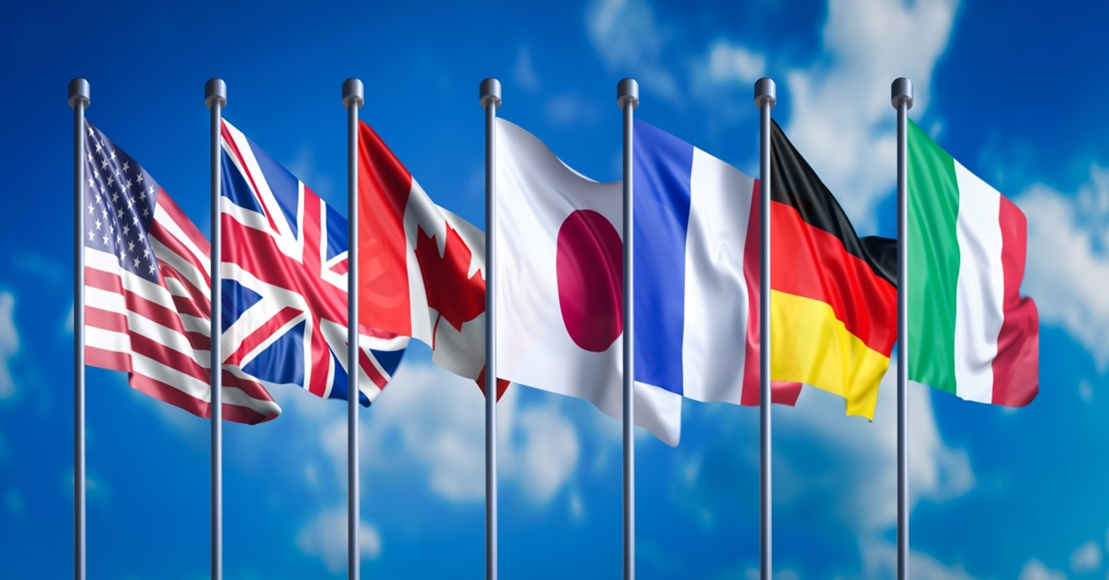 G7 countries's flags