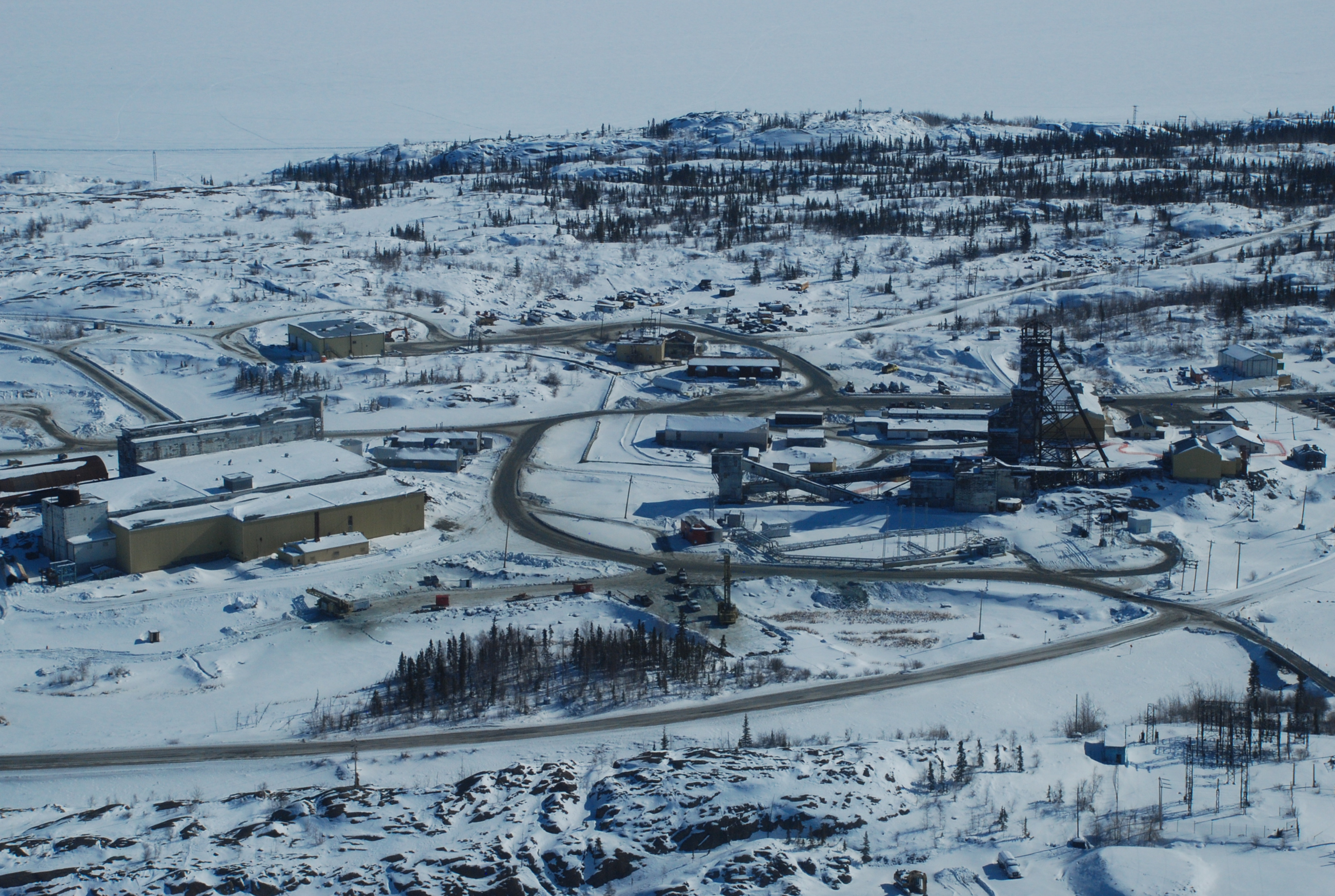 Mine Giant en hiver   Giant Mine in the winter