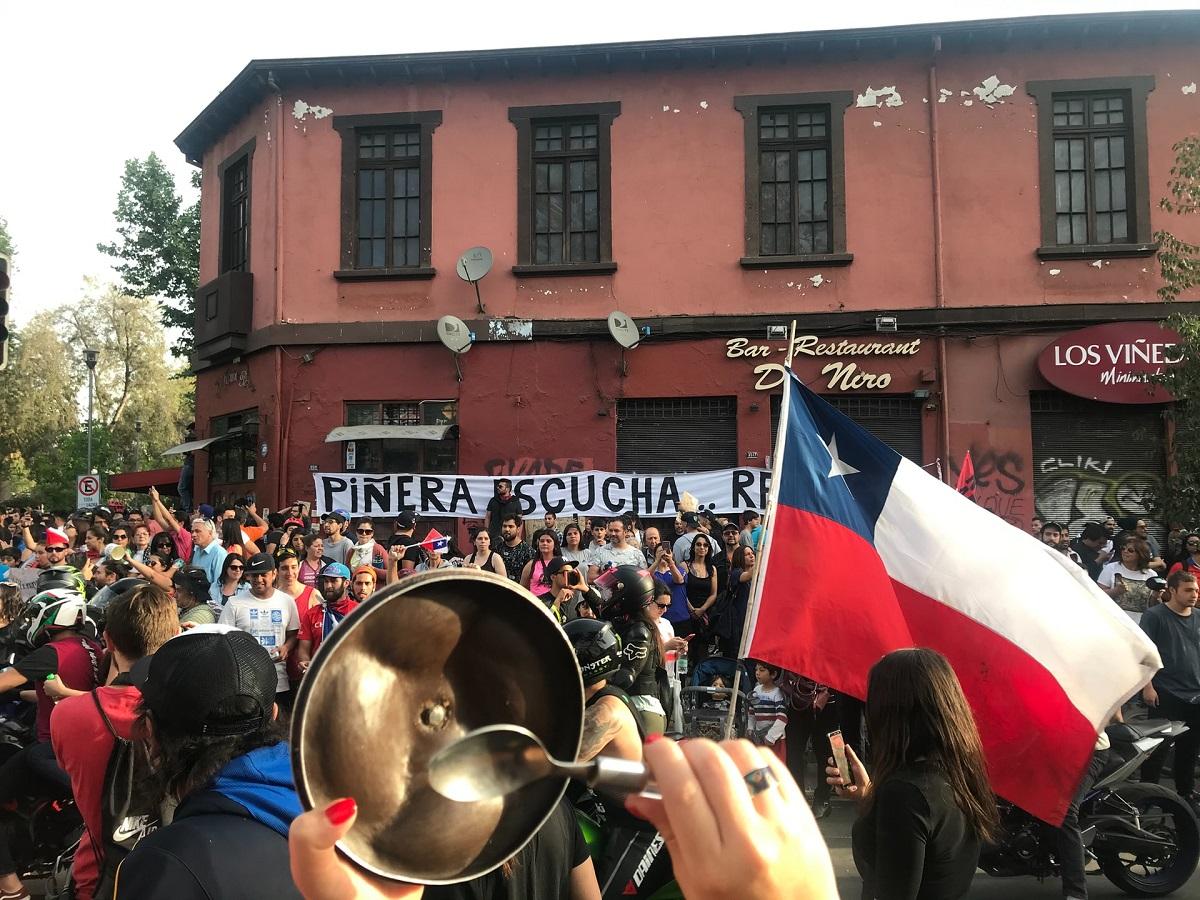 Manifestation de rue contre le président chilien Sebastián Piñera