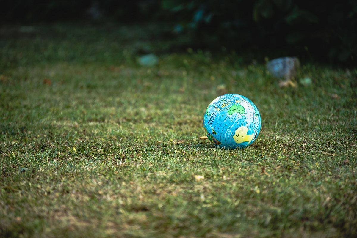 Ball globe on grass