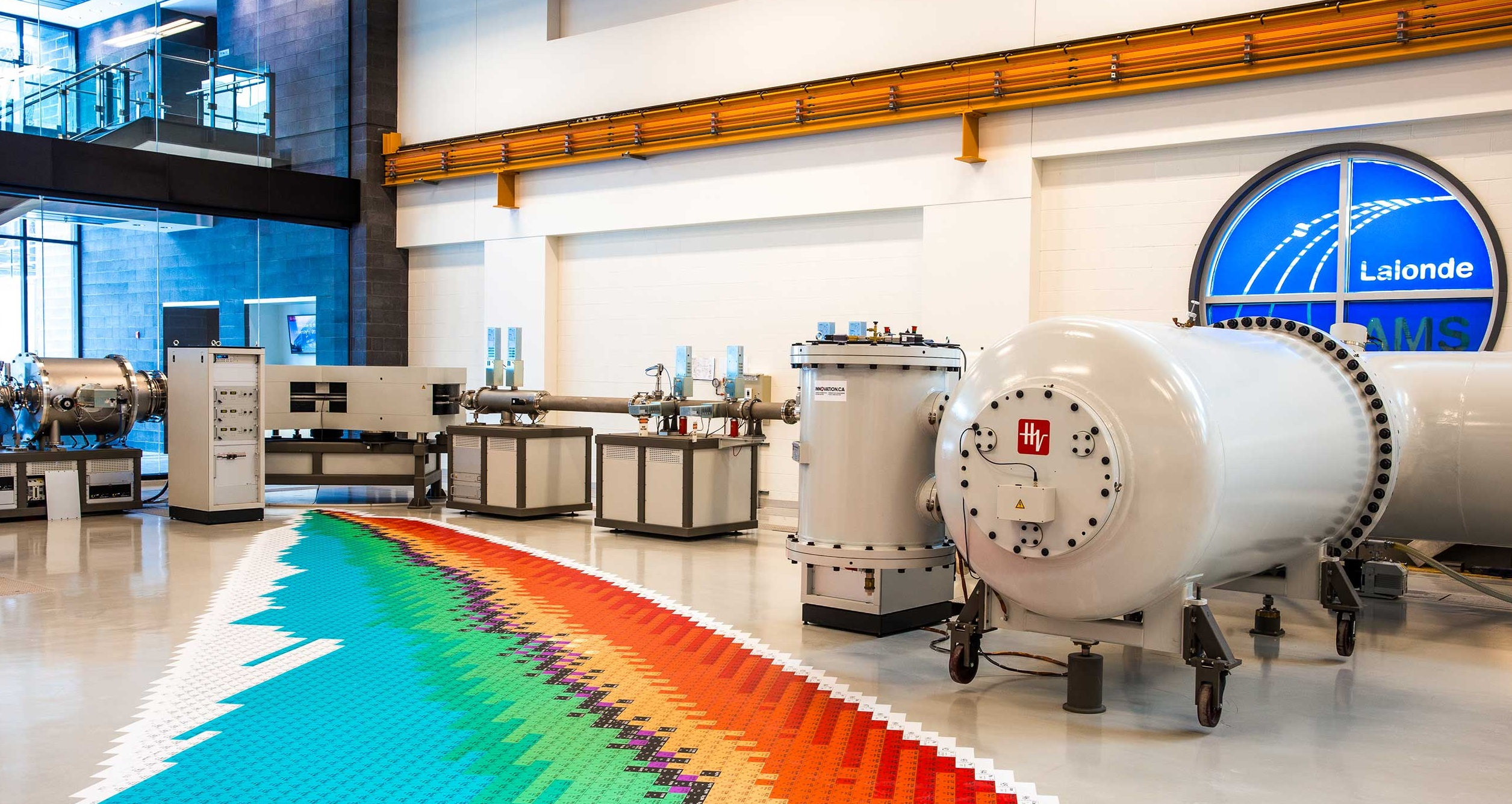 Photo of an accelerator mass spectrometer, a high tech piece of scientific equipment