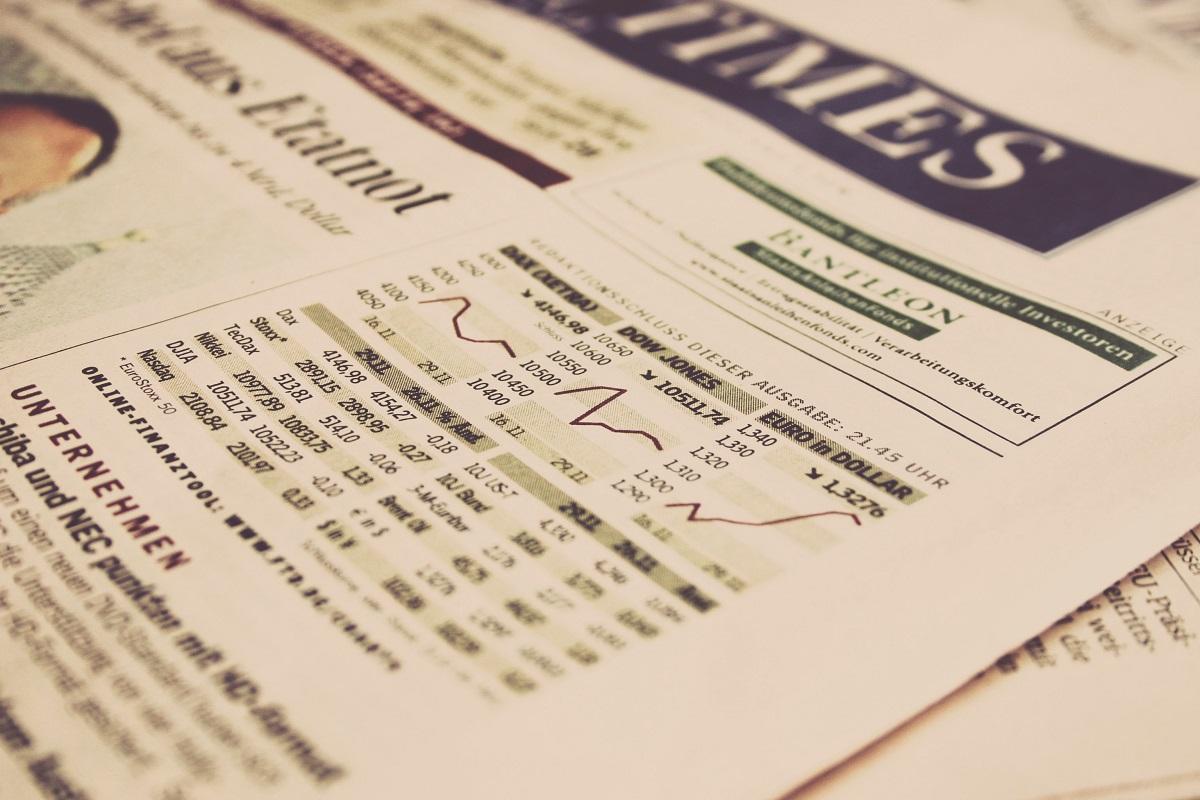 Section de finance d'un journale