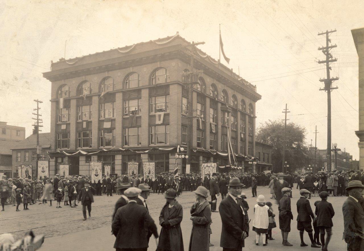 Scène historique du centre-ville d'Ottawa.