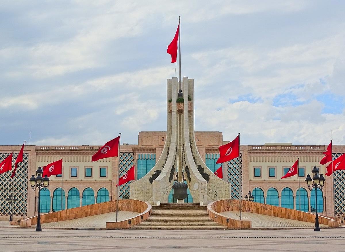 Place de la Kasba national monument in Tunis, Tunisia, Africa