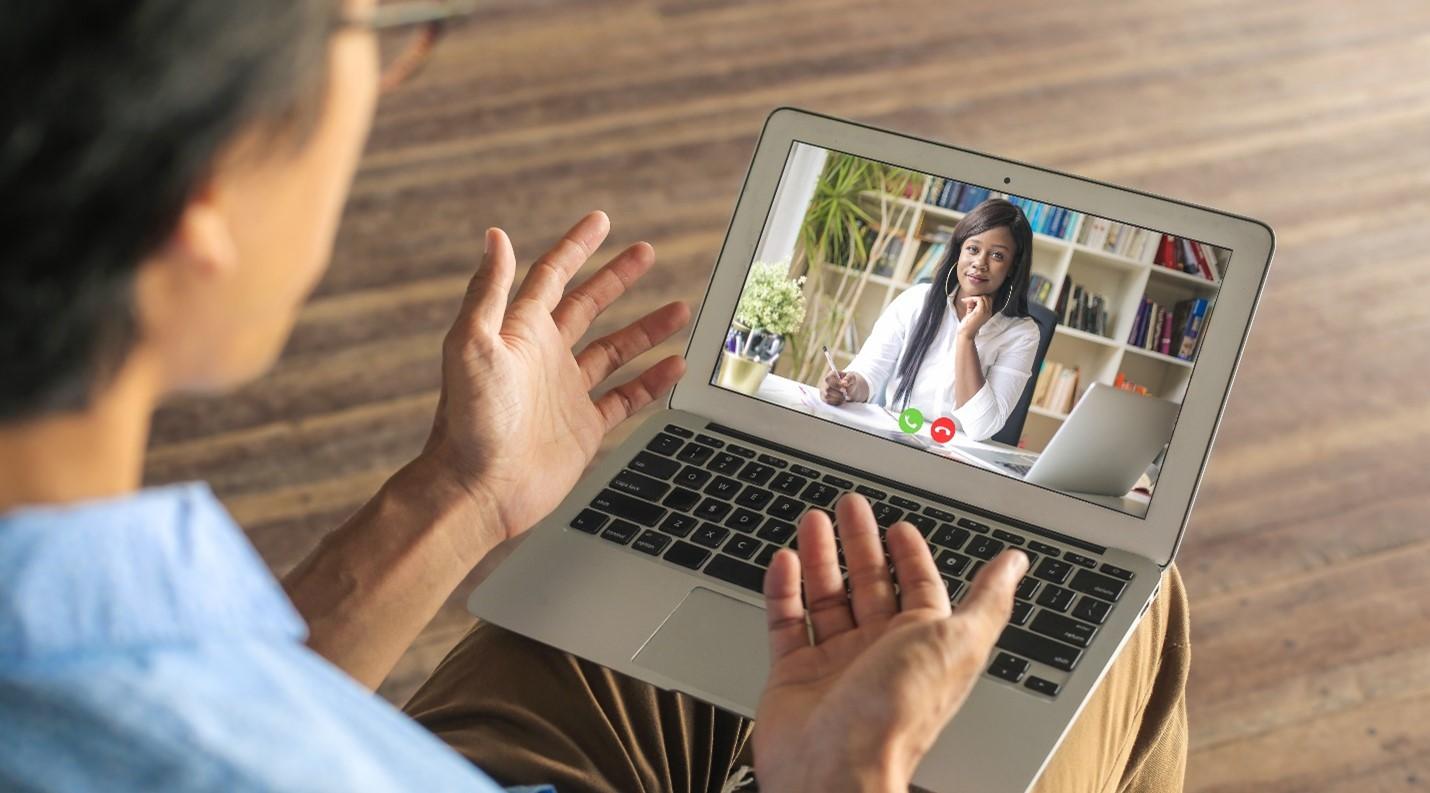 two people talking via videoconference