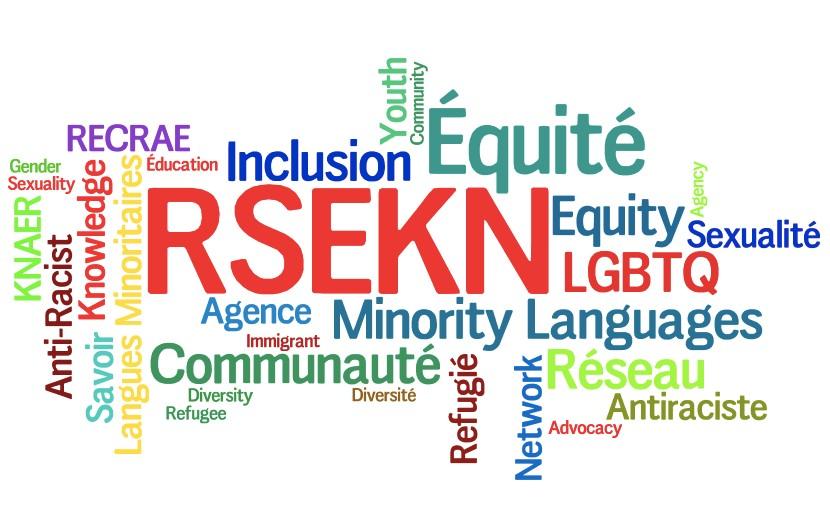 RECRAE, Savoir, Langues Minoritaires, Éducation, Inclusion, Équité, Sexualité, LGBTQ. Agence, Immigrant, Communauté, Diversité, Réfugié, Antiraciste, Réseau