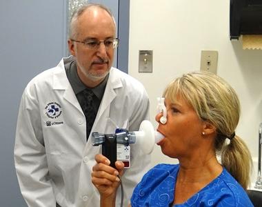 Spirometry test / Test de spirométrie