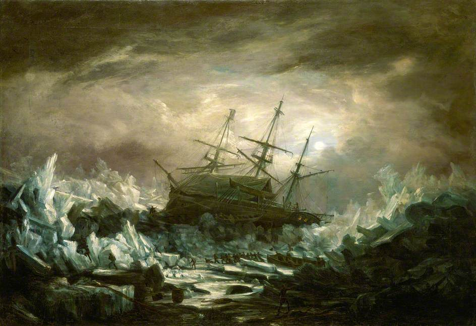 HMS Terror in the Arctic Regions